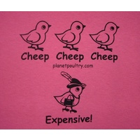 Cheep, Cheep, Cheep, Expensive! T-Shirt [Size: M][Colours: Green (Irish)]