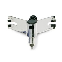 Clip bracket with angle nipple holder