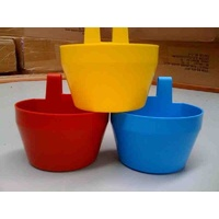 Show Cage Pots Waterer (Poultry / Chicken) [Colours: Yellow]