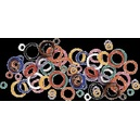 "Spiral legband - Size 11 (17.5 mm or 11/16"")"